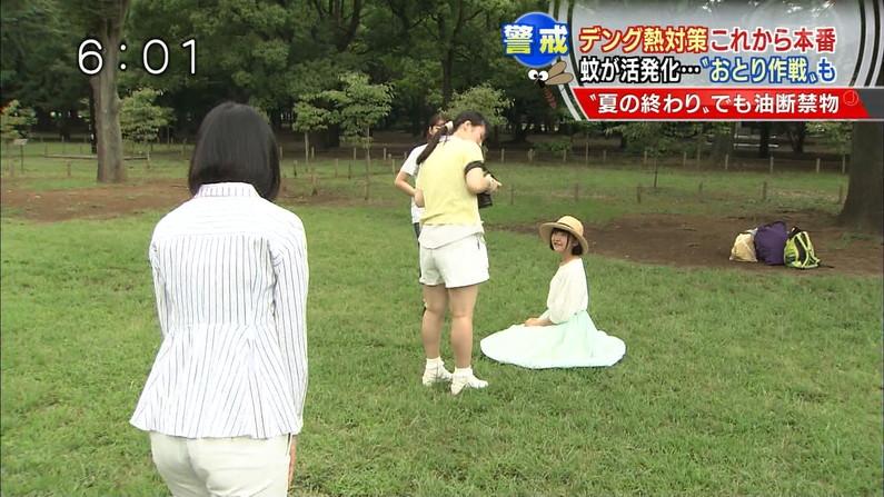 【放送事故画像】お尻が一番エロい女子アナは誰だ?wピタパンでパン線くっきりww 11