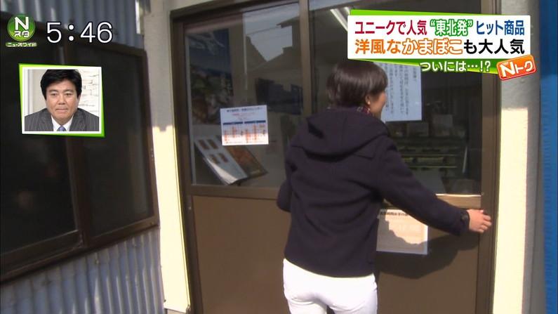 【放送事故画像】お尻が一番エロい女子アナは誰だ?wピタパンでパン線くっきりww 13