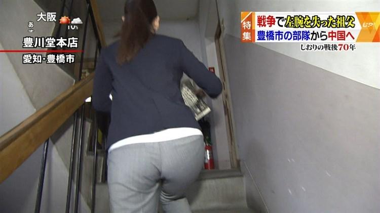【放送事故画像】お尻が一番エロい女子アナは誰だ?wピタパンでパン線くっきりww 16