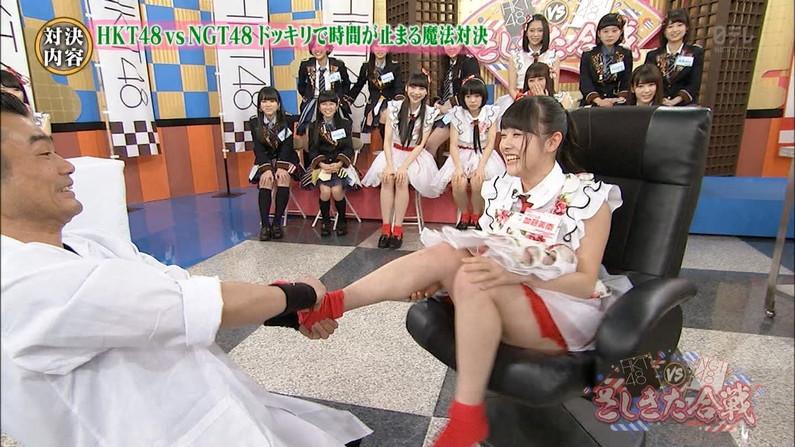 【放送事故画像】この脚見てたらオナニーしたくなっても仕方のないタレント達のエロい太もも! 10