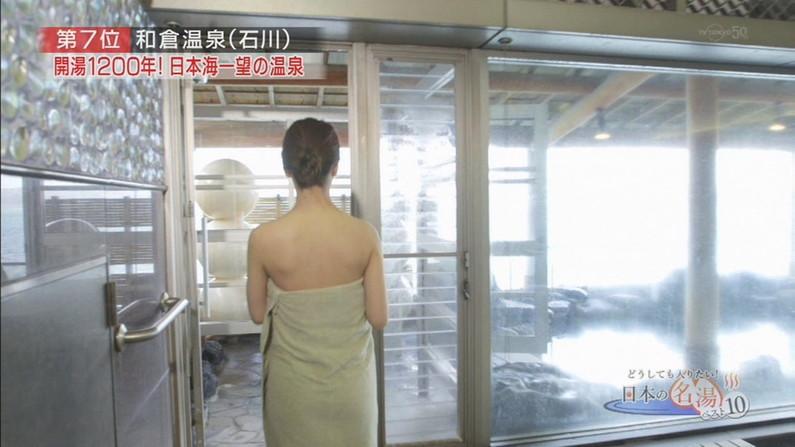 【放送事故画像】ポロリ確率高まる温泉レポート!視聴者の視線が胸元に集まるwww 06