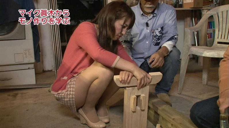 【放送事故画像】エロい太もも見せつけて視聴者の視線を釘付けにするタレント達! 13