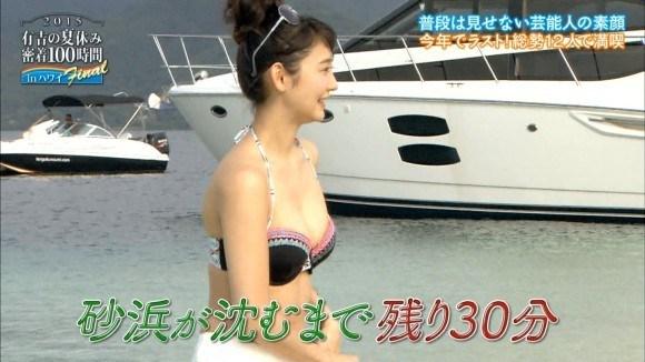 【放送事故画像】可愛い巨乳ちゃんのビキニ姿ってマジで股間刺激するよなww 19