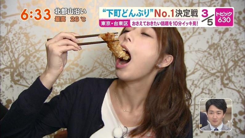 【擬似フェラ画像】食レポで料理の情報より自分のエロさを伝えてしまう女子アナ達の顔ww