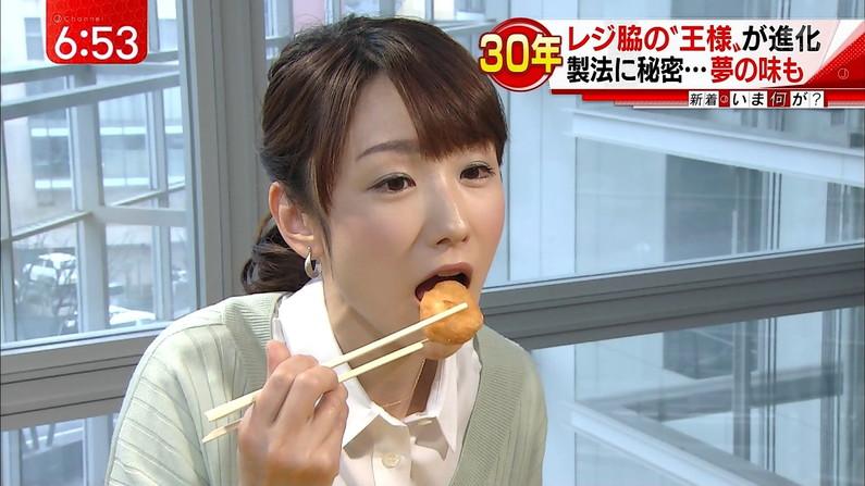 【擬似フェラ画像】食レポで料理の情報より自分のエロさを伝えてしまう女子アナ達の顔ww 11
