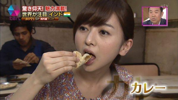【擬似フェラ画像】食レポで料理の情報より自分のエロさを伝えてしまう女子アナ達の顔ww 20