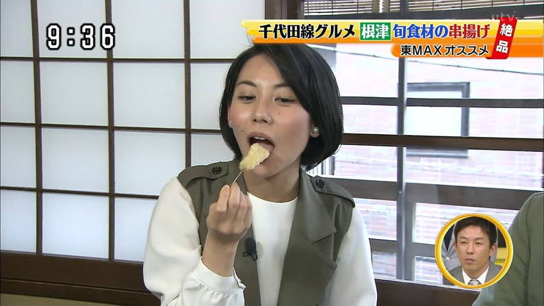 【擬似フェラ画像】食レポで料理の情報より自分のエロさを伝えてしまう女子アナ達の顔ww 23