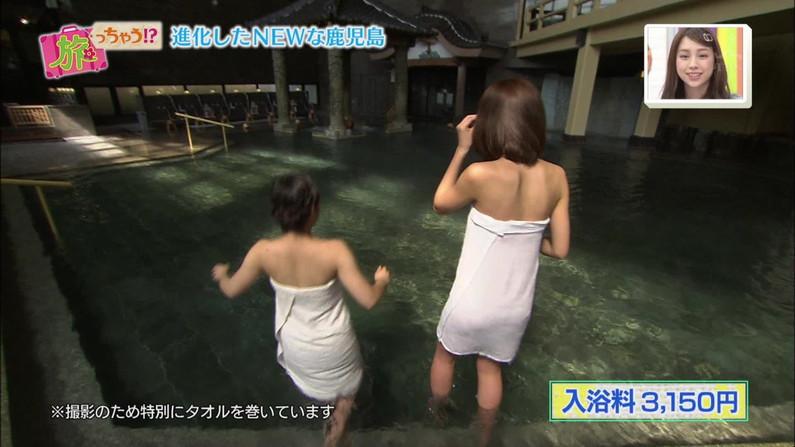 【テレビキャプ画像】女性タレントの裸姿が安易に想像できちゃう温泉レポww 08