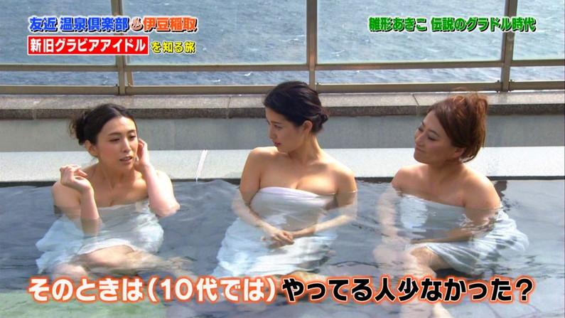 【テレビキャプ画像】女性タレントの裸姿が安易に想像できちゃう温泉レポww 24