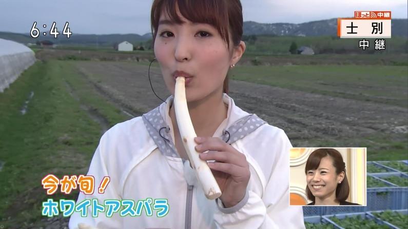 【擬似フェラ画像】エロい表情で食レポする女子アナ達の擬似フェラテクニックがやばいww 09