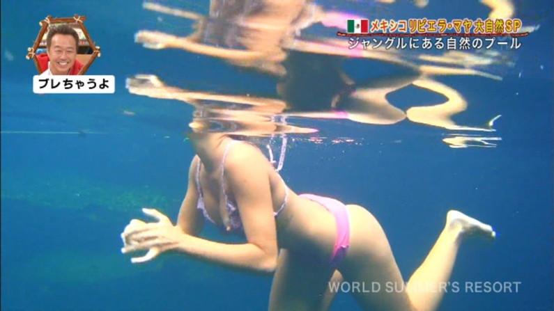 【放送事故画像】世界サマーリゾートに映った外人美女達!ポロリしてもお構いなしに映されるwww