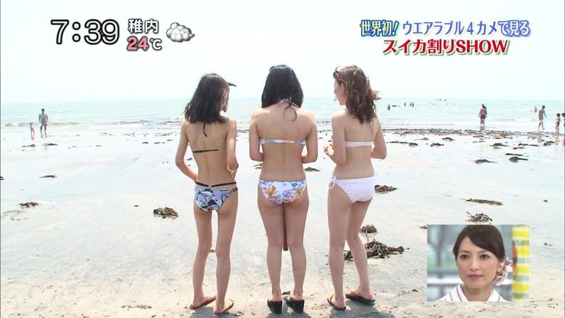 【お尻キャプ画像】テレビでハミケツし過ぎな水着着る女ってもはや隠す気とかないんだろうなww 16