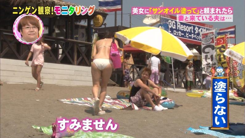 【お尻キャプ画像】テレビでハミケツし過ぎな水着着る女ってもはや隠す気とかないんだろうなww 21