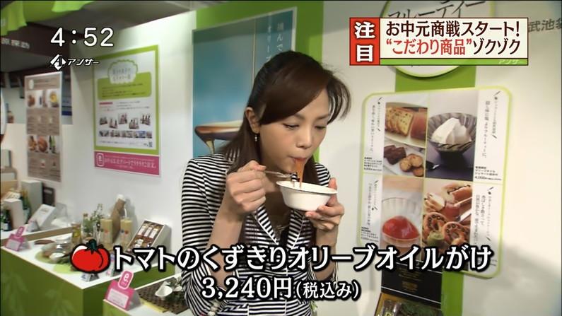 【擬似フェラ画像】エロい食べ方で視聴者を魅了するタレント達!この表情にも注目www 12