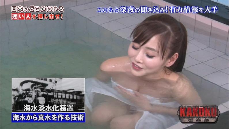 【放送事故画像】温泉レポート中に「見えた!」の連発w映ってしまった女子アナやタレント達w 04