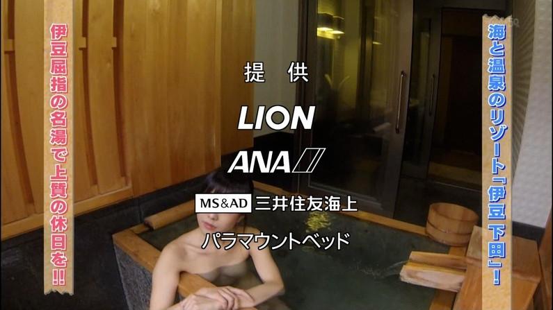 【放送事故画像】温泉レポート中に「見えた!」の連発w映ってしまった女子アナやタレント達w 10