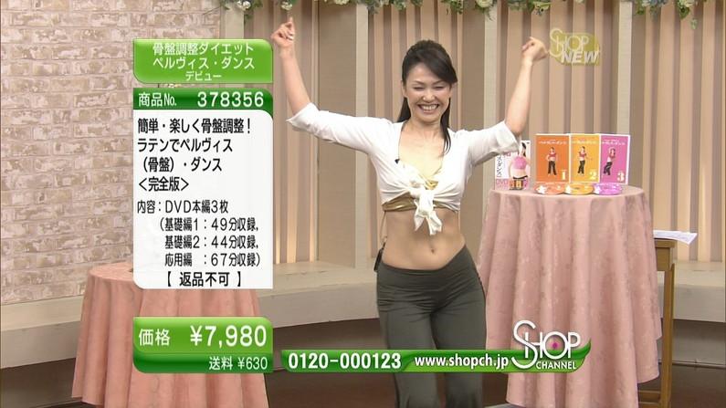 【くびれキャプ画像】テレビに映るくびれ美女の自慢のお腹がこれだwww 22