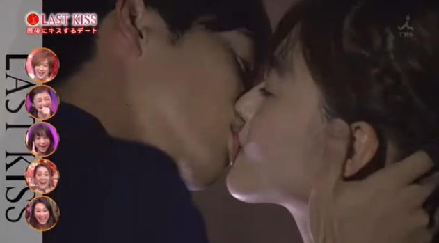 【キステレビキャプ画像】見てるだけで照れちゃう女子アナやタレント達のキス顔やキスシーンww 19