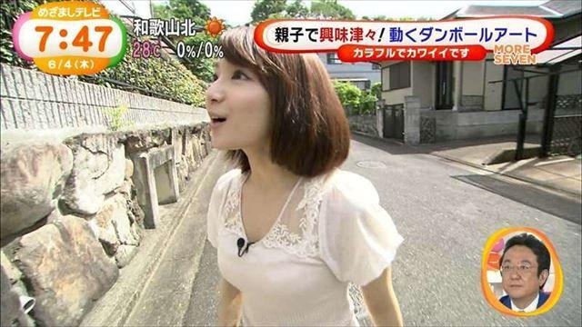 【ブラ透けキャプ画像】やらしい透け透けの服着ちゃってテレビに出るってどぉゆうことだww 11