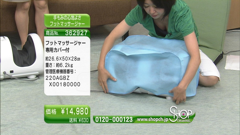 【谷間キャプ画像】商品の説明より谷間の方が気になるテレビショッピングww   13