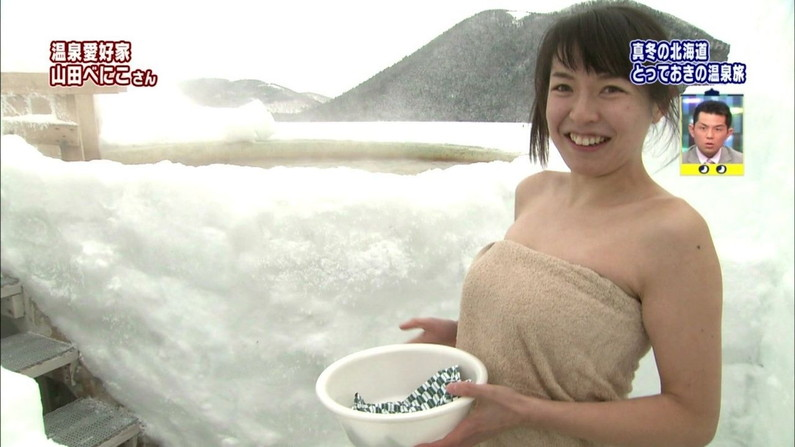 【入浴キャプ画像】芸能人の入浴シーンでバスタオルから見える谷間みて興奮しないやついるの?ww 11
