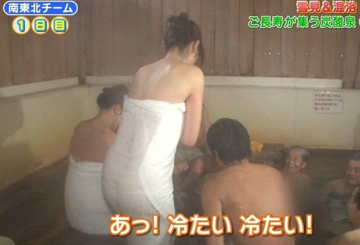 【入浴キャプ画像】芸能人の入浴シーンでバスタオルから見える谷間みて興奮しないやついるの?ww 15