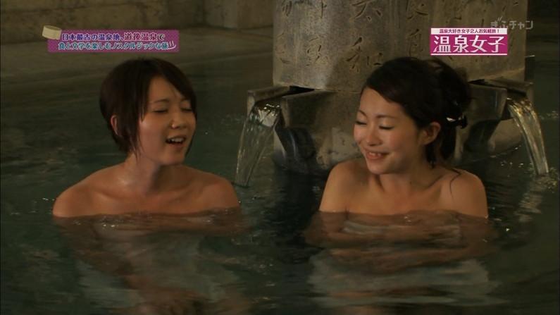 【入浴キャプ画像】芸能人の入浴シーンでバスタオルから見える谷間みて興奮しないやついるの?ww 16