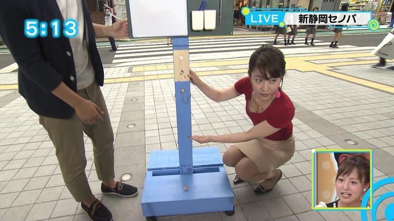 【谷間キャプ画像】何かと前屈みになる事が多い女子アナはその回数だけ谷間を見せつけてるww 09